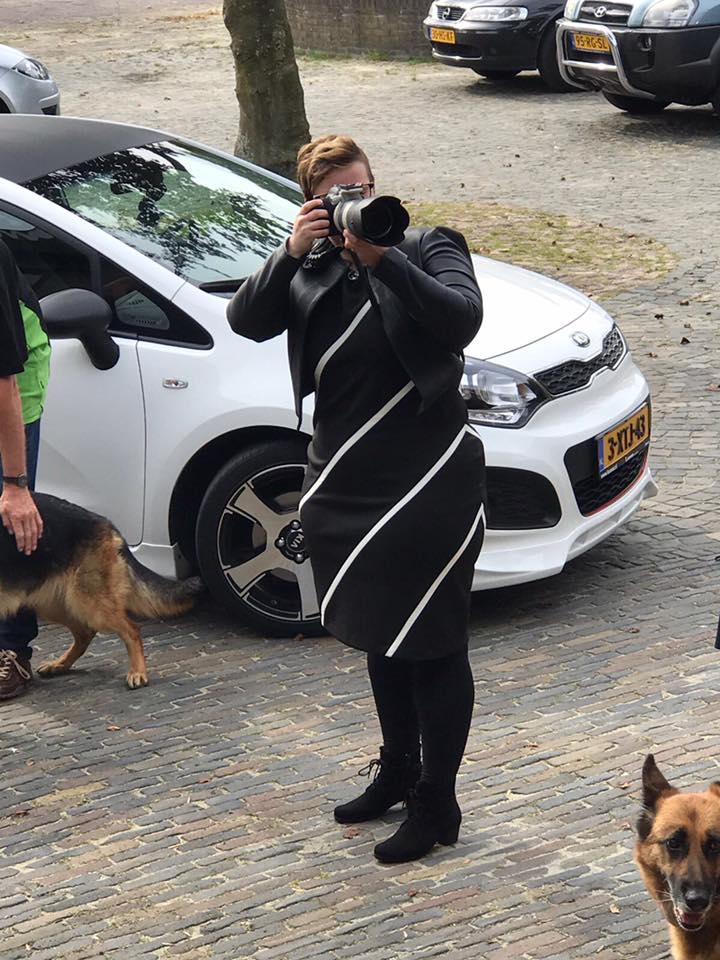 Fotograaf tijdens trouwerij